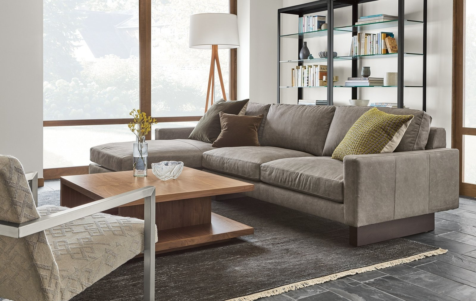 Designed to relax over time, the cushions of Hess will develop a more casual look while still maintaining their plush feel.   Modern Living Room Furniture by Room & Board