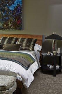 Home Tour: Atlanta Chef Kevin Gillespie - Photo 11 of 15 - Hudson bed, Greene end table, Quinn ottoman, Haven throw
