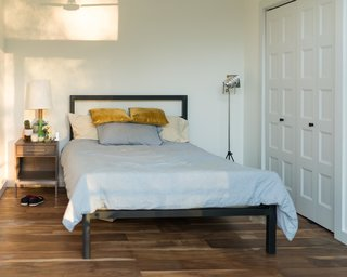 Home Tour: Theron Humphrey of This Wild Idea - Photo 10 of 11 - Parsons bed, Alden nightstand and Rayas table lamp