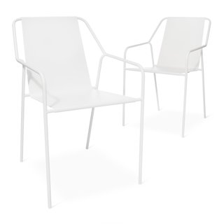 Modern by Dwell Magazine: Outdoor Collection - Photo 15 of 16 - Outdoor Dining Chair - Set of 2, $149.99; available in gray or white; designed by Chris Deam and Nick Dine for Modern by Dwell Magazine for Target
