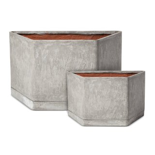 Modern by Dwell Magazine: Outdoor Collection - Photo 12 of 16 - Hexagonal Concrete Planter, 89.99; available in small or large; designed by Chris Deam and Nick Dine for Modern by Dwell Magazine for Target