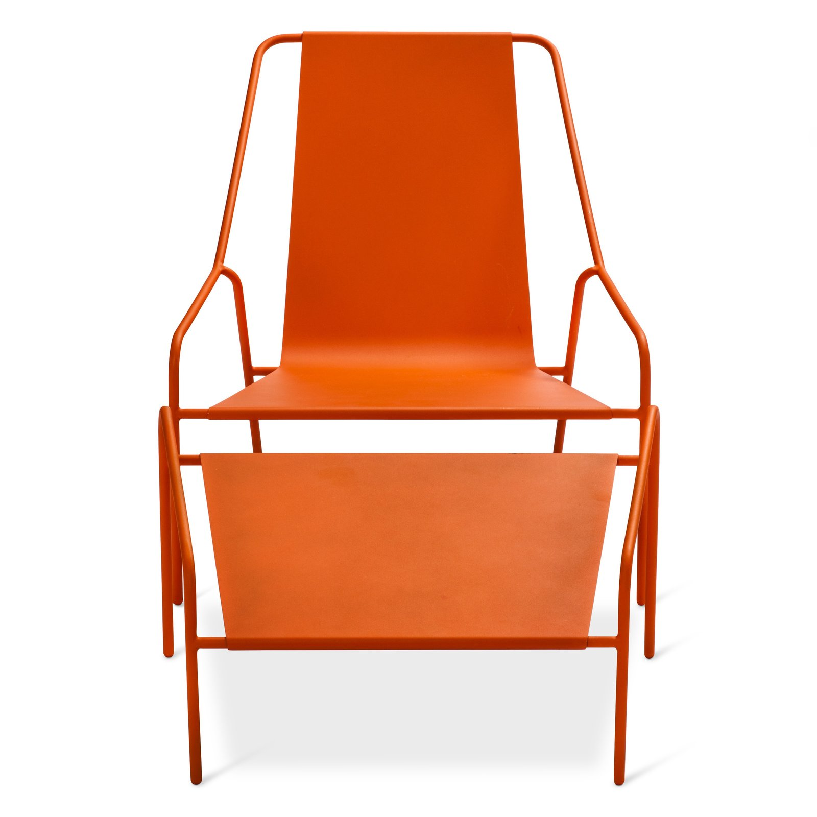 Posture Chair and Ottoman Set, $269.99, available in gray, orange, or white; designed by Chris Deam and Nick Dine for Modern by Dwell Magazine for Target  Modern by Dwell Magazine: Outdoor Collection - Photo 9 of 17
