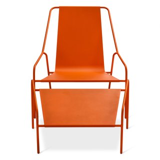 Modern by Dwell Magazine: Outdoor Collection - Photo 8 of 16 - Posture Chair and Ottoman Set, $269.99, available in gray, orange, or white; designed by Chris Deam and Nick Dine for Modern by Dwell Magazine for Target