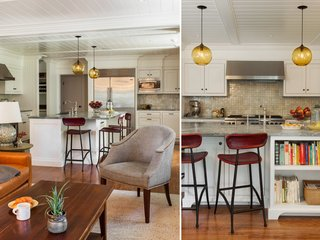 Contemporary Kitchen Island Lighting Shines in New England Residence - Photo 2 of 2 -