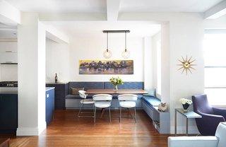Breakfast Nook Modern Lighting Inside a Modern Manhattan Home - Photo 1 of 3 -