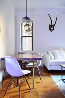 Table Pendant Lighting Adds to New York City Home's Unique Minimalism - Photo 2 of 3 -