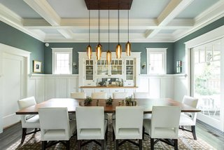 Dining Room Pendant Lighting Sets the Mood in an Eclectic Oregon Home - Photo 1 of 4 -