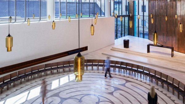 Timeless Glass Pendant Lights Reflect a Church's Past and Pave the Way to Its Future