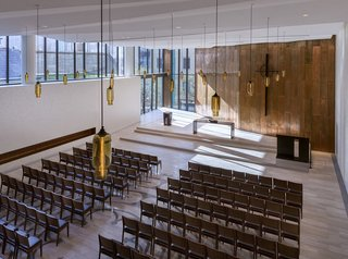 Timeless Glass Pendant Lights Reflect a Church's Past and Pave the Way to Its Future - Photo 1 of 2 -