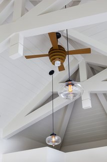 Historic Massachusetts Home Uses Modern Pendant Lights in Pool House - Photo 2 of 3 -