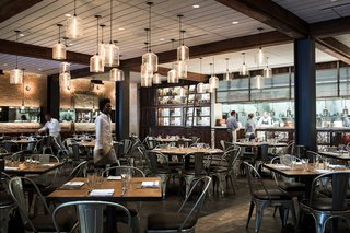 Modern Restaurant Pendant Lights Add to Charm of Popular Dallas Eatery - Photo 1 of 3 -