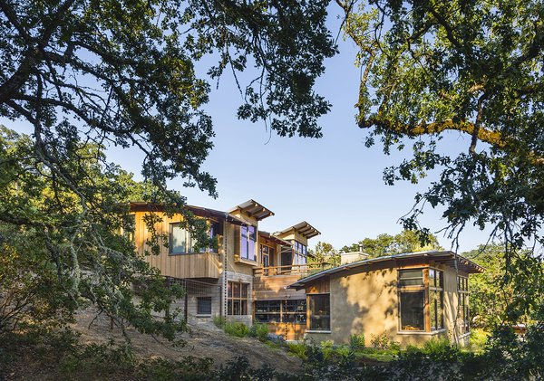 Selecting the 'Big Sky' site allowed the driveway to be routed further from the creek, and eliminated a ranch road that had been channeling rainwater runoff into the creek.   Photo 16 of Healdsburg Family House modern home