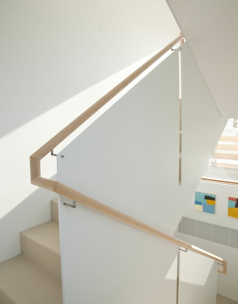 Stair runs are divided by thin steel panel Photo 12 of Chesapeake Bay House modern home
