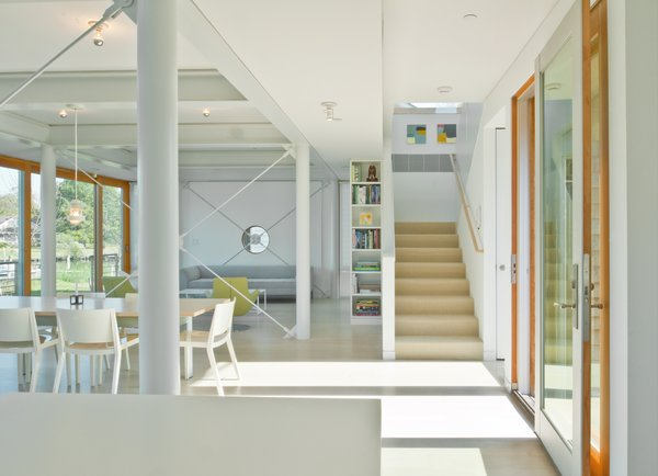 Modern home with living room, chair, and sofa. Great room Photo 2 of Chesapeake Bay House