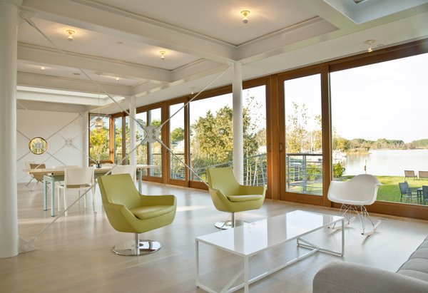 Great room with view out to water Photo 5 of Chesapeake Bay House modern home