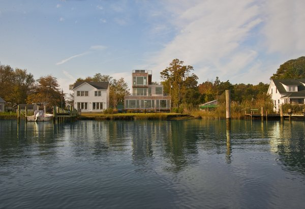 View of house from the water Photo 11 of Chesapeake Bay House modern home