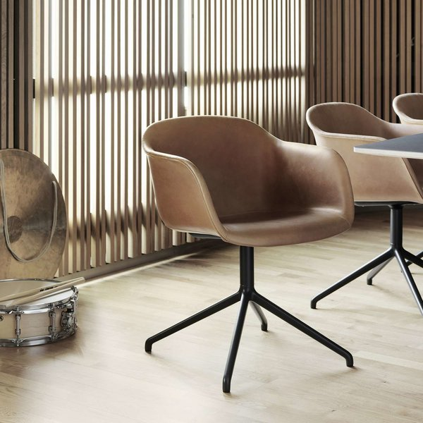 Fiber Fully Upholstered Return Swivel Armchair, Set of 2 from Muuto