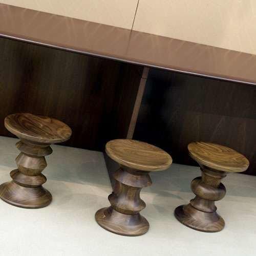 Eames Walnut Stools from Herman Miller