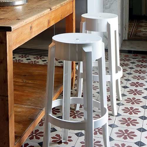 Charles Ghost Stool, Set of 2 from Kartell