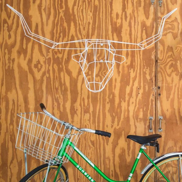 Long Horn Geometric Animal Head from Bend Goods