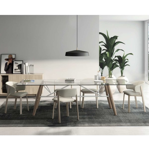 Connection Glass Top Dining Table from Huppe