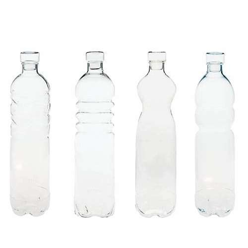 Estetico Quotidiano Si-Bottles + Lids, Set of 4 from Seletti