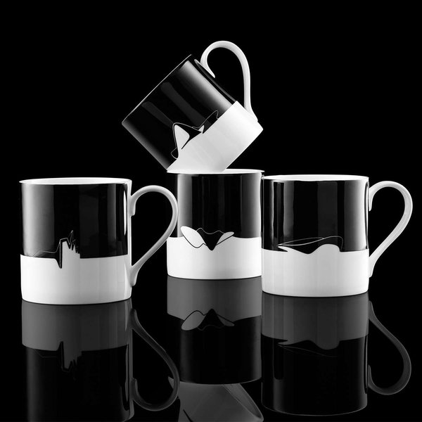 Icon Mug Aquatic Centre Black from Zaha Hadid Design