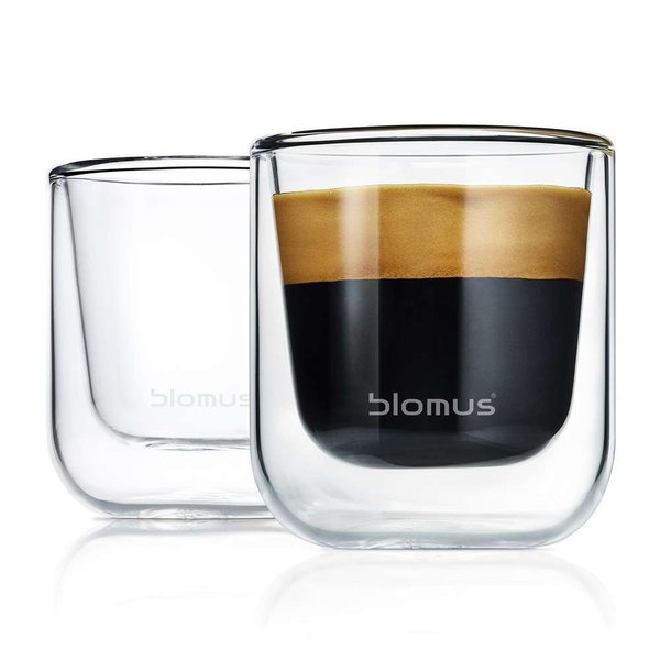 Nero Insulated Espresso/Tea Glasses - Set of Two from blomus
