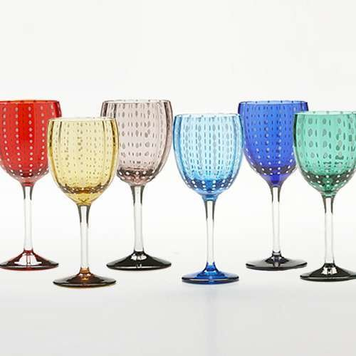 Perle Wine Glass, Gift Set of 6 from Zafferano