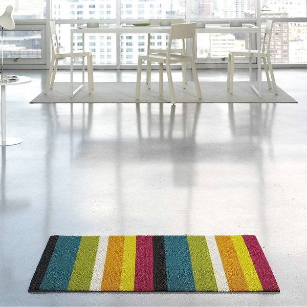 Bold Stripe Indoor/Outdoor Shag Floormat from Chilewich