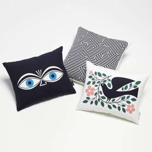 Eyes Graphic Print Pillow by Vitra