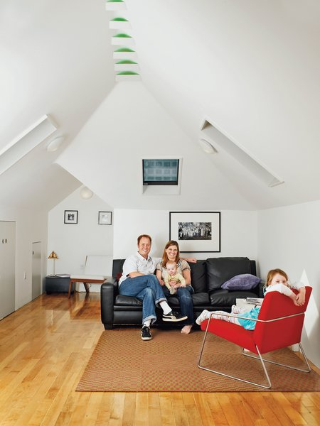An upstairs family room converted from an attic was the major perk of this home renovation.