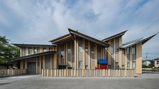 Architect Spotlight: 12 Works by Japanese Architect Kengo Kuma - Photo 5 of 12 - The multiple pitched roof design of Aitoku Kindergarden reflects the city scape—with each angled roof expressing the natural rhythm of a town.