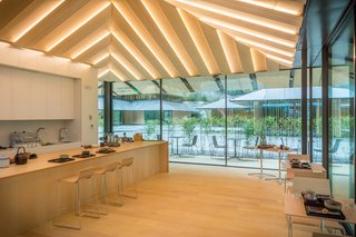 Take a Tour of Kengo Kuma's Expansion of the Portland Japanese Garden - Photo 5 of 8 - The Umami Cafe by Aji-no-moto, serves tea from Jugetsudo. In order to keep the Pacific Northwest coffee culture from seeping into the property, they made a conscious decision to only serve tea.