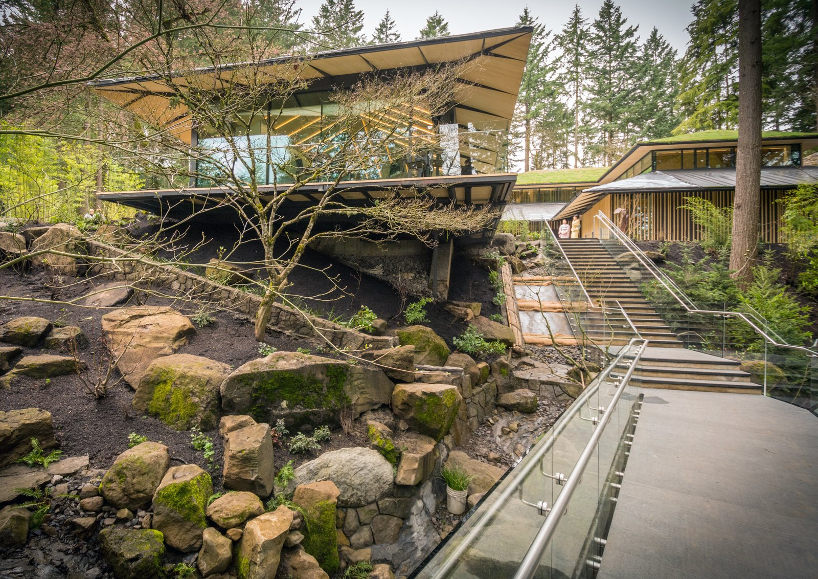 An exterior view of the Umami Cafe. Tagged: Outdoor and Garden.  Photo 6 of 8 in Take a Tour of Kengo Kuma's Expansion of the Portland Japanese Garden