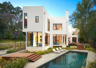 "10 Prefabs Found on the East Coast - Photo 6 of 10 - This award-winning contemporary prefab ""Modular One"" is located in the DC Suburbs. Designed by architect Robert M. Gurney, the energy-efficient, light-filled home was assembled on-site within two days."