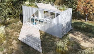 10 Steel Prefabs That Are Both Modern and Practical - Photo 6 of 10 - Based in Sacramento, California, TAYNR specializes in prefab homes built from shipping containers.