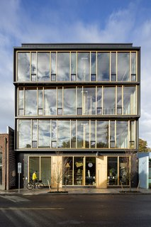 Design Week Portland Showcases the Talent of its Vibrant Design Community - Photo 7 of 13 - Albina Yard, designed by Lever Architecture, is a new creative office and retail project in North Portland that also happens to be the first U.S. office building made from domestically-fabricated, cross-laminated timber (CLT).