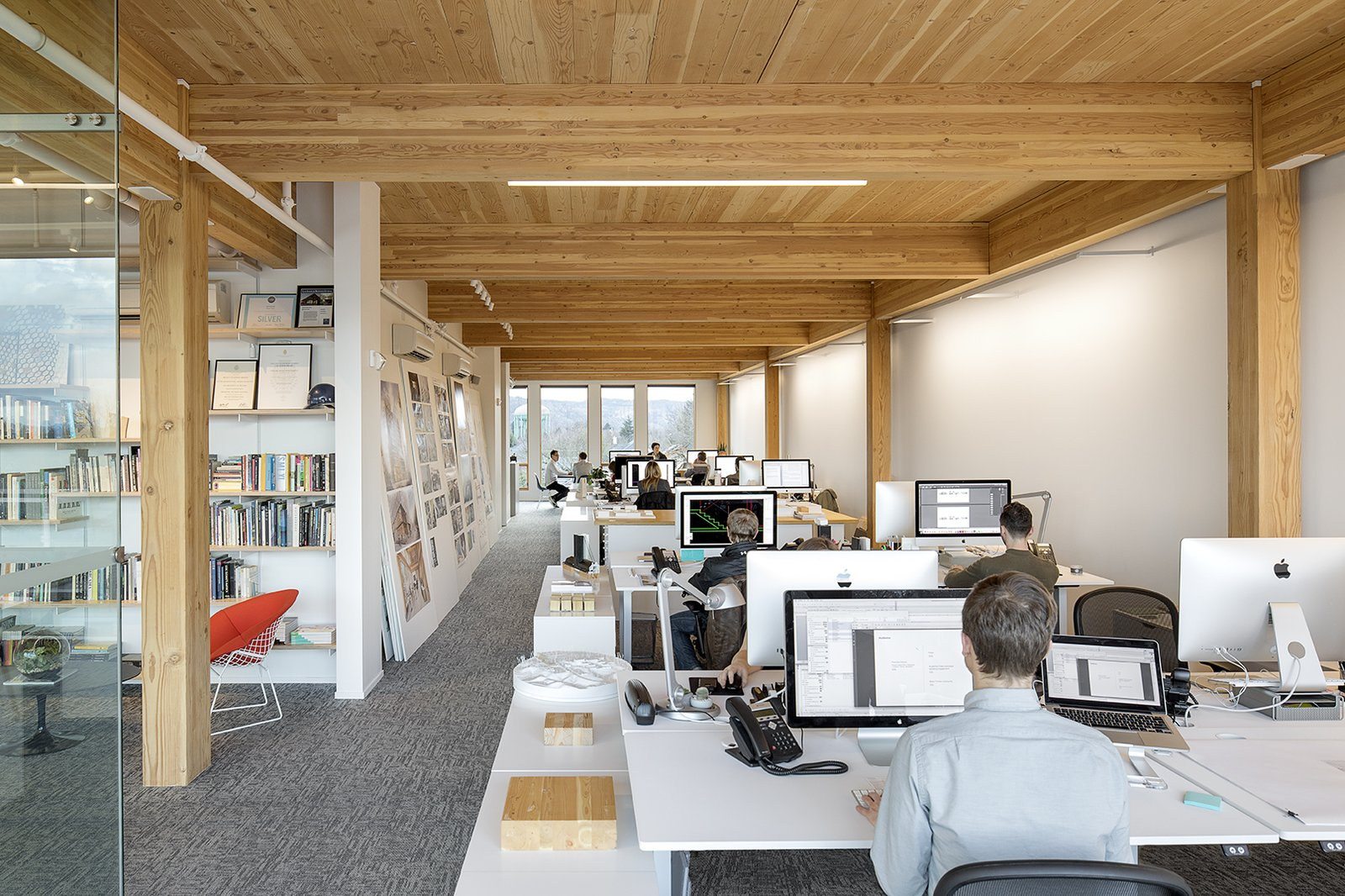 Albina Yards is also home to Architect Thomas Robinson's Portland firm LEVER Architecture.  Photo 3 of 9 in Albina Yard—Pioneering the Future of Sustainable Mass Timber Construction