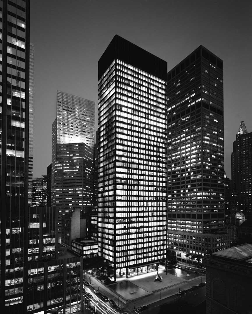 Setting the standard for the modern skyscraper, the 38-story Seagram Building is located in the heart of New York City on Park Avenue. The elegant structure was Mies' first tall office building construction and embodies the principles of modernism.  Photo 7 of 11 in Less Is More: 10 Buildings by Ludwig Mies van der Rohe