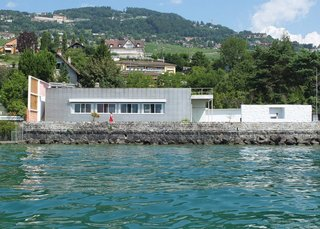 Spotlight on 10 Influential Works by Le Corbusier - Photo 4 of 10 - Le Corbusier designed Villa Le Lac as a lakeside home for his parents. The single-story block home sits on the edge of Lac Leman in Corseaux, Switzerland.