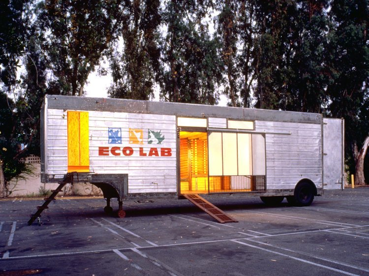 The Mobile ECO LAB was built in collaboration with the Hollywood Beautification Team, a grassroots group founded with the mission to restore beauty and integrity to the Hollywood community.  Photo 15 of 15 in Eco-Friendly Prefabs and the Modern Mobile Home: Spotlight on Jennifer Siegal