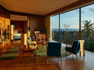 7 Community-Focused Maker Hotels Around the World - Photo 7 of 9 - The bright and contemporary Katamama Suite overlooks the Indian Ocean and showcases custom-made artisanal furnishings and timeless midcentury pieces.
