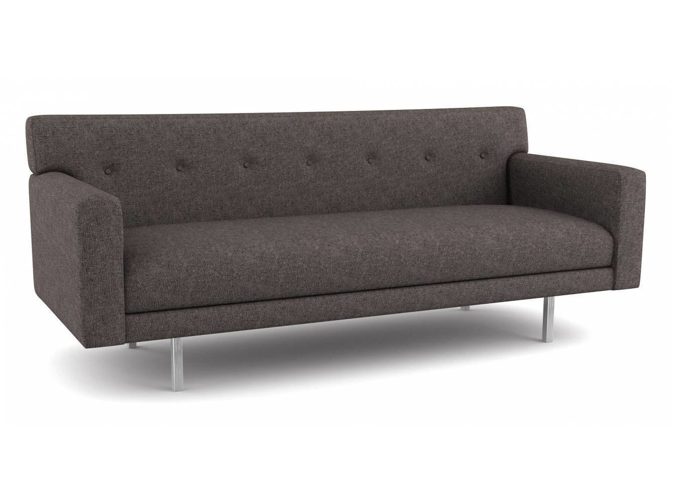 Thanks to its shallow frame, this compact modern sofa fits well into small spaces. It's sophisticated, retro design comes in over 2,000 environmentally-friendly fabric options—or you have the option to provide your own.