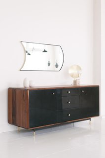The Mandlebrot Credenza in black by De Jong & Co.