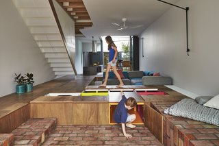 Gestalten's New Book Shows How to Transform Small Spaces Into Design Marvels - Photo 13 of 16 - The Mill House in Melbourne, Australia, by Austin Maynard Architects incorporates a kind of giant toy box beneath the floor of the main living space.