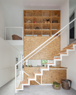 Gestalten's New Book Shows How to Transform Small Spaces Into Design Marvels - Photo 14 of 16 - This home reconfigured for an artist in Porto by URBAstudios uses a central unit to create a kitchenette, while also concealing a second-story bedroom from view.