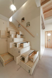 Gestalten's New Book Shows How to Transform Small Spaces Into Design Marvels - Photo 8 of 16 - This home in Koriyama, Japan, by Architect Kotaro Anzai, takes its cues from traditional Japanese carpentry techniques that use staircases to maximize storage.