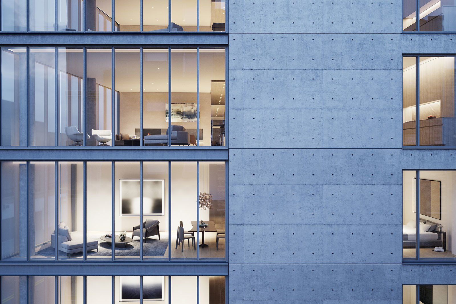Photo 1 of 10 in A Look Into NYC's 152 Elizabeth Street, Tadao Ando's First Residential Project Outside of Asia