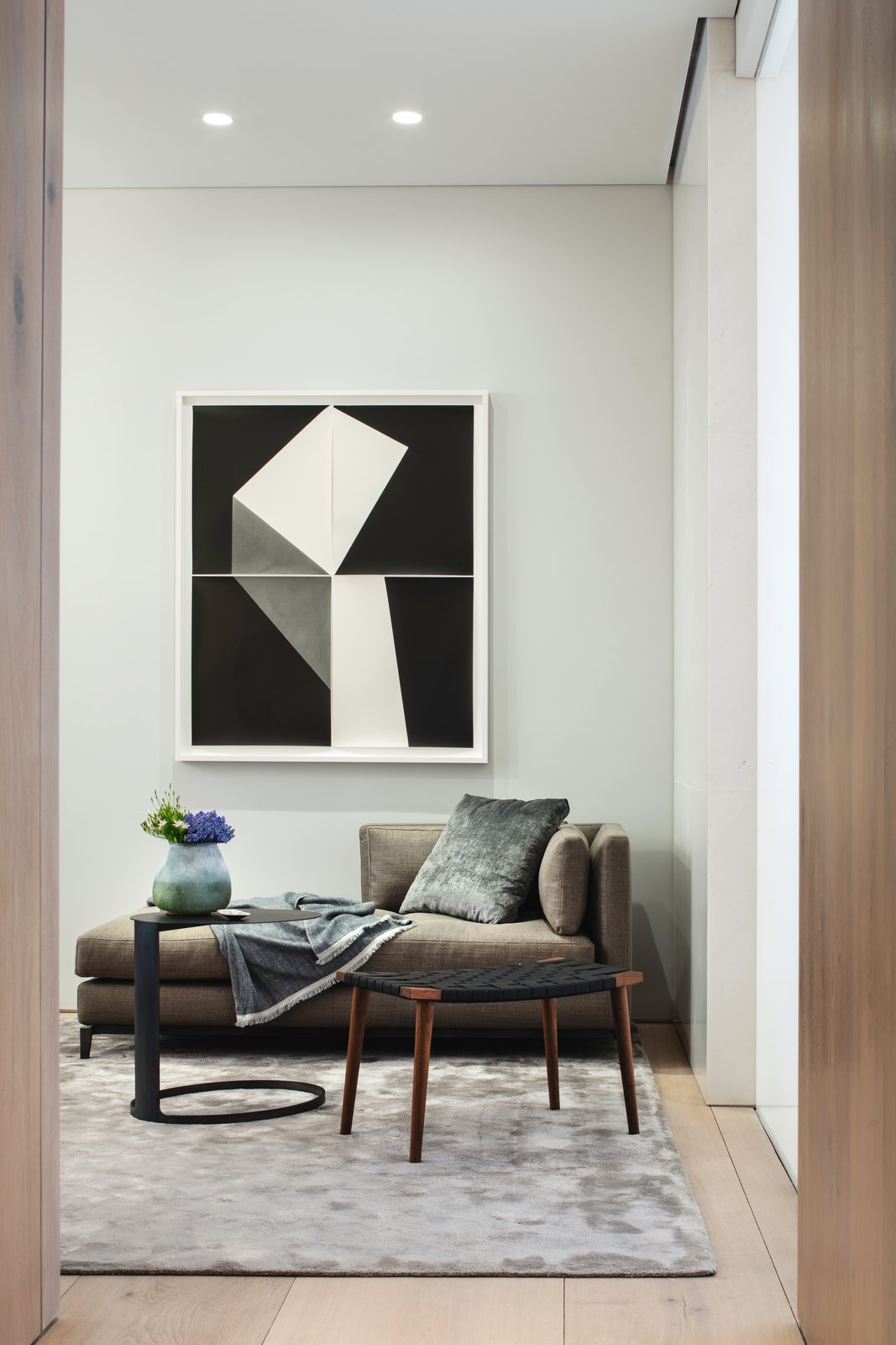 The home has been furnished by DDC, accessorized by Atelier Courbet, and features artwork by Yossi Milo Gallery. A Look Into NYC's 152 Elizabeth Street, Tadao Ando's First Residential Project Outside of Asia - Photo 9 of 10